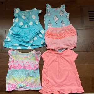 6pcs baby girl clothes sizes 3-6M